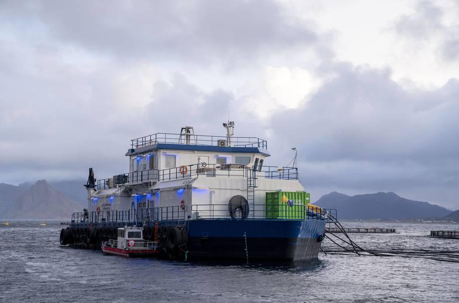 Fjord Hybrid installert på fôrflåte. Foto: Anita Vedå