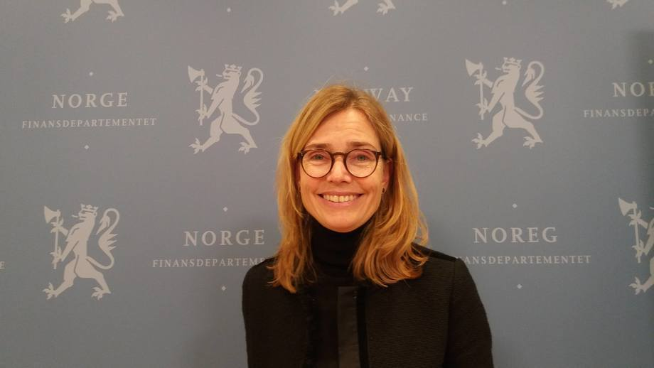 La jefa del Comité de Impuestos, Karen Helene Ulltveit-Moe. Foto: Harrieth Lundberg.