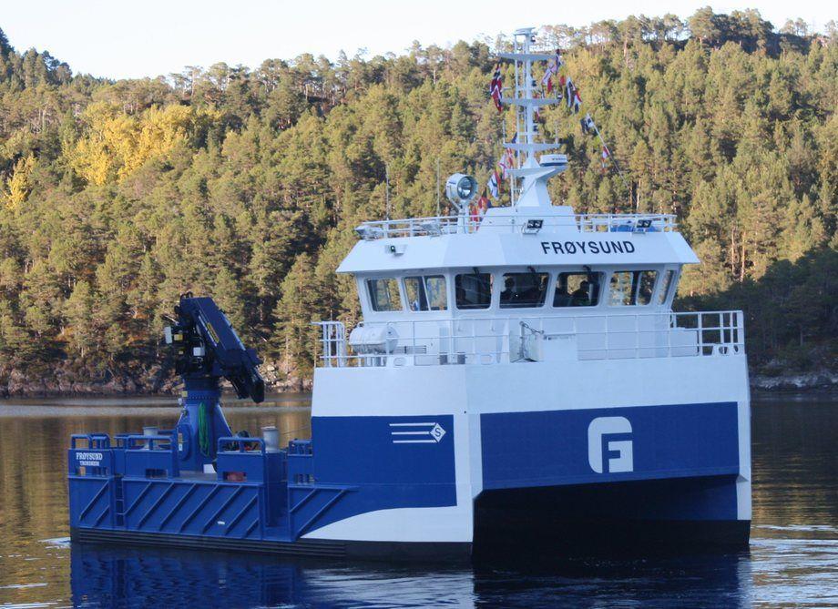 Nye «Frøysund» er levert fra Sletta Verft og skal i kontrakt for Salmar Farming. Sletta Verft