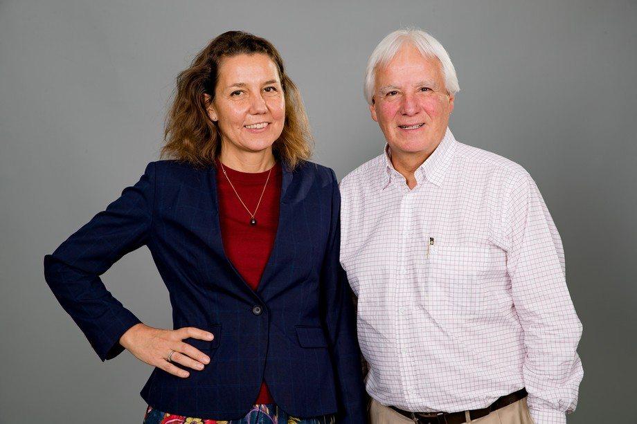 Anne-Mette Baek junto a Eduardo Goycoolea. Foto: IFFO.