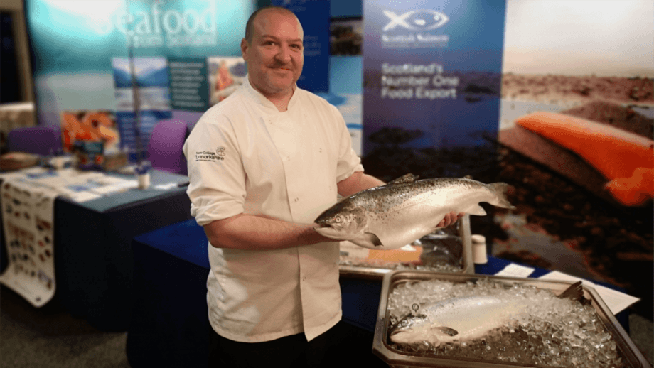 Paul McLean, winner of the SSPO's #LoveScottishSalmon recipe competition. Photo: SSPO.