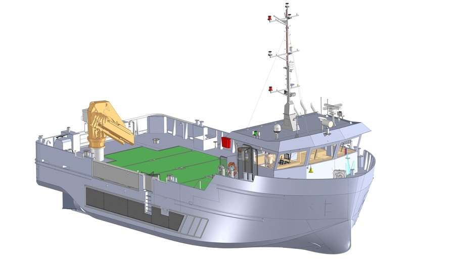 Scottish Sea Farms will take delivery of the Fair Isle early next year. Image: Nauplius Workboats.