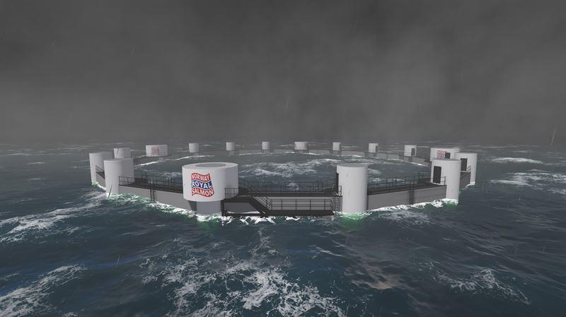 La jaula está diseñada para una altura de olas de entre 5 y 15 metros. Imagen: NRS.
