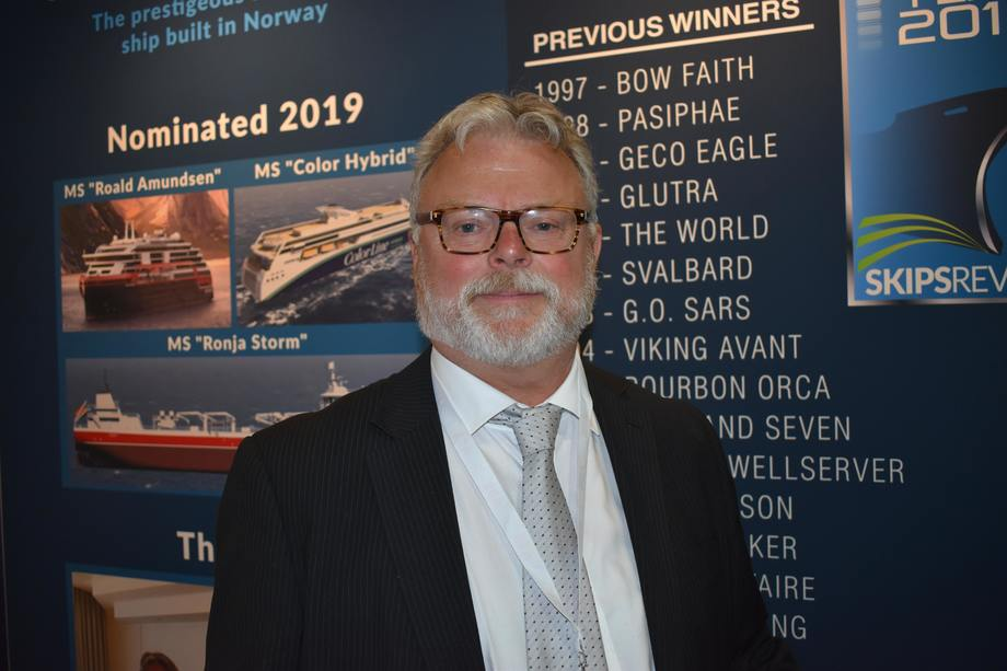 Gustav Erik Blaalid er juryleder for Ship of the Year. Foto: Helge Martin Markussen