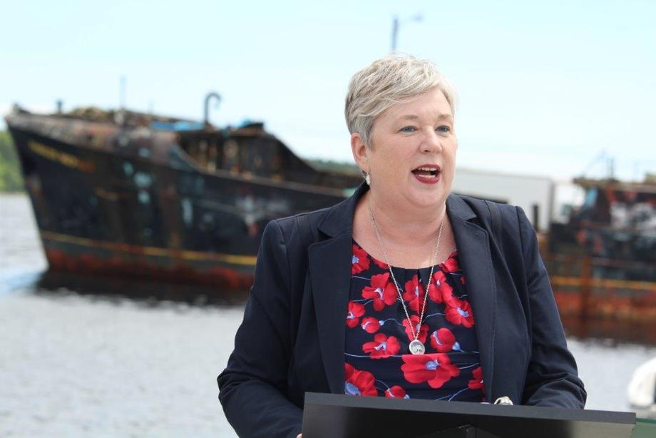 Bernadette Jordan expects to take five years to come up with a plan to transition net-pen fish farming.