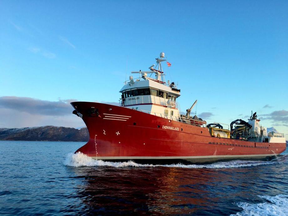 Brønnbåten «Dønnalaks». Foto: Norsk Fisketransport.