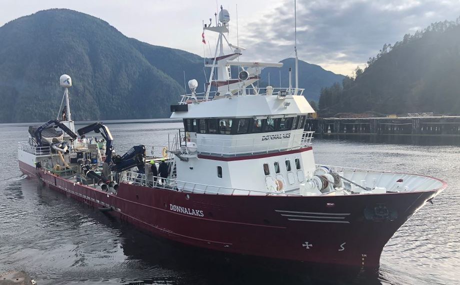 The MS Dønnalaks will operate on a long-term contract in Iceland. Photo: Intership.