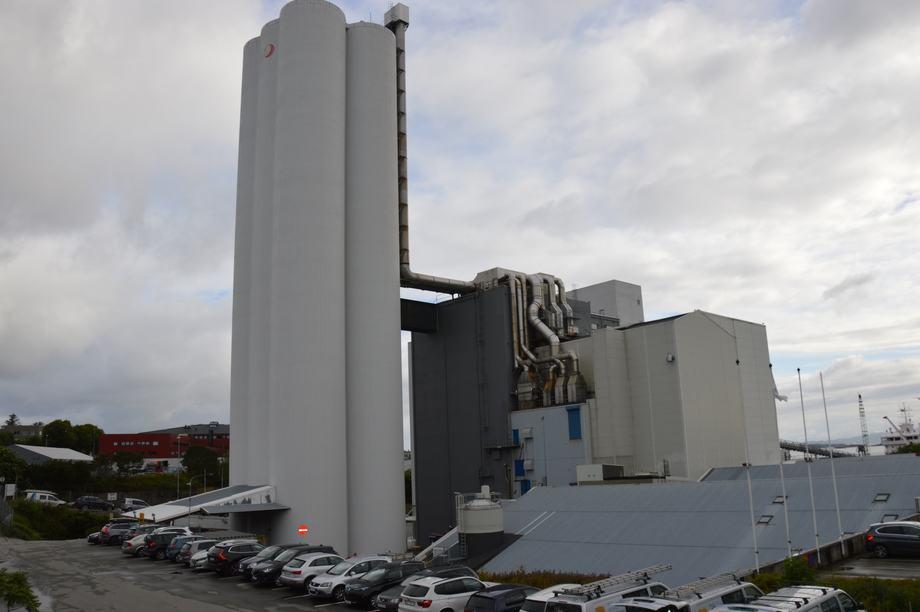 Skretting sin fôrfabrikk i Stavanger. Foto: Ole Andreas Drønen