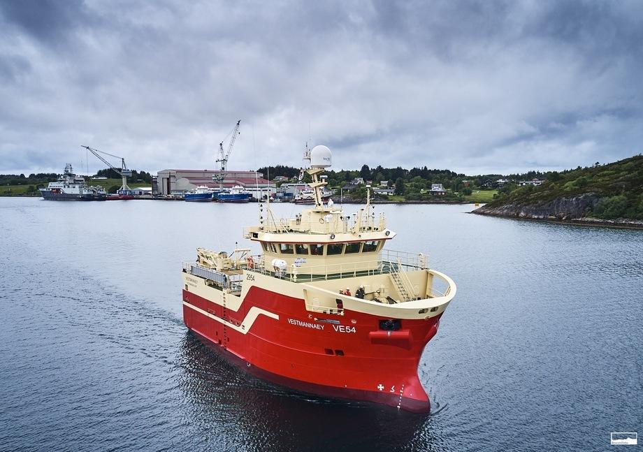 «Vestmannaey» var den første som ble levert til Island. Foto: VARD/Kjell Stian Brunes