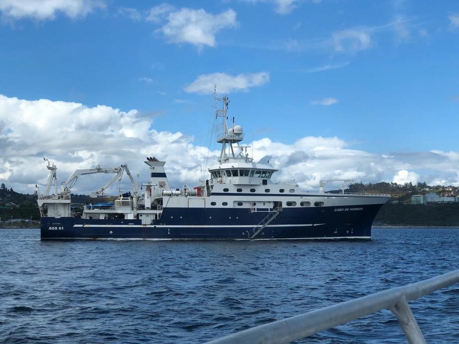 Buque Oceanográfico AGS-61 Cabo de Hornos, embarcación en que se realizó el crucero internacional. Foto: IFOP.