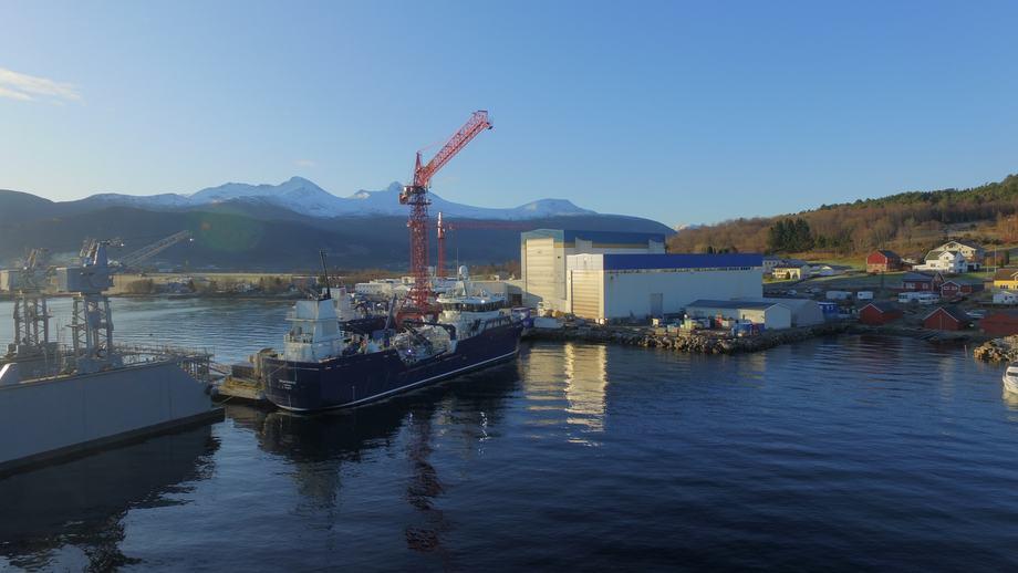 «Ronja Islander» skal inn på langsiktig kontrakt for Grieg Seafood på sine oppdrettsanlegg i Canada. Foto: Aas Mek. Verksted.