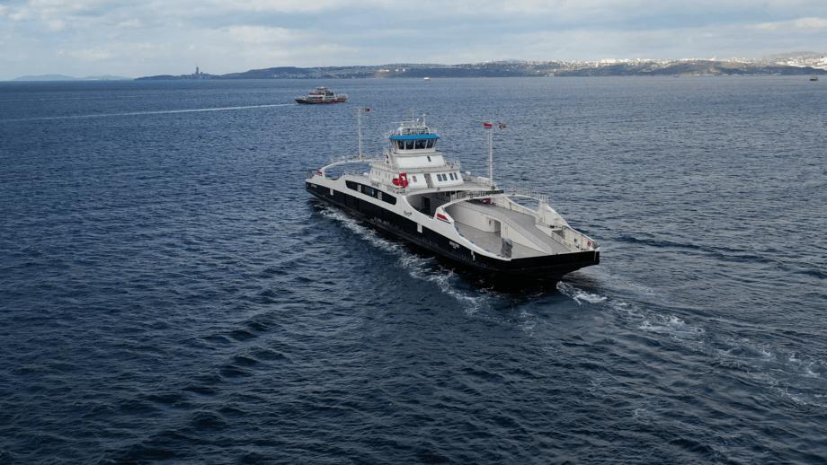MF «Eresfjord» er levert fra Tersan Shipyard og på vei til Norge. Foto: Tersan Shipyard