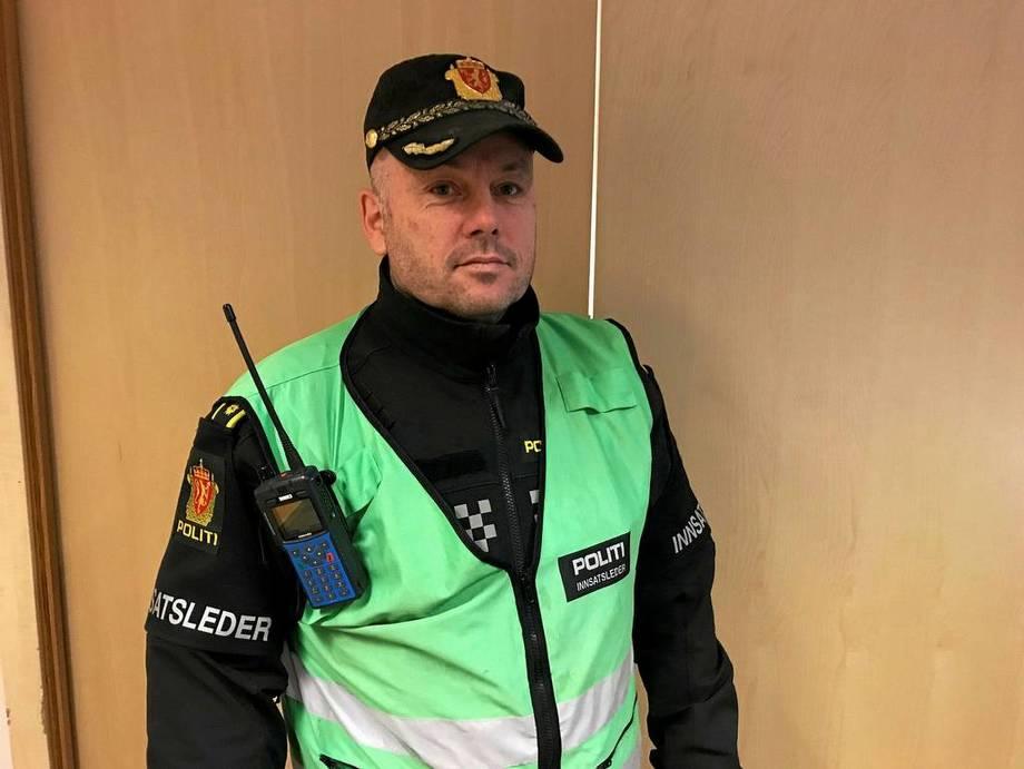 Innsatsleder Remi Anbakk i Region Rana i Nordland politidistrikt. Foto: Politiet