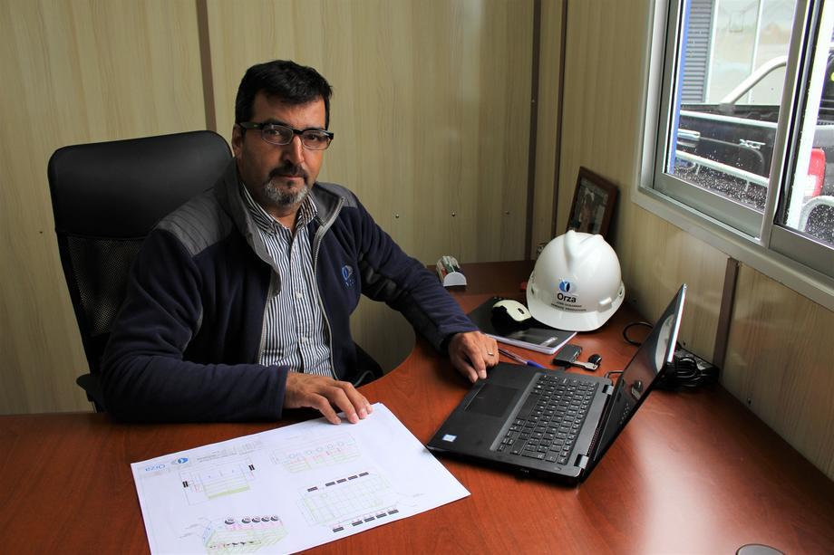José Guajardo, nuevo gerente de Producción de Orza. Foto: Orza.