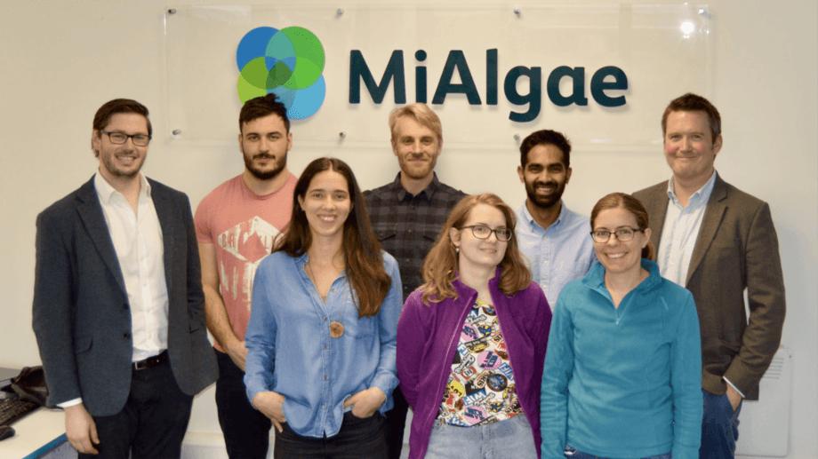 Douglas Martin, left, with the MiAlgae team. Photo: MiAlgae.