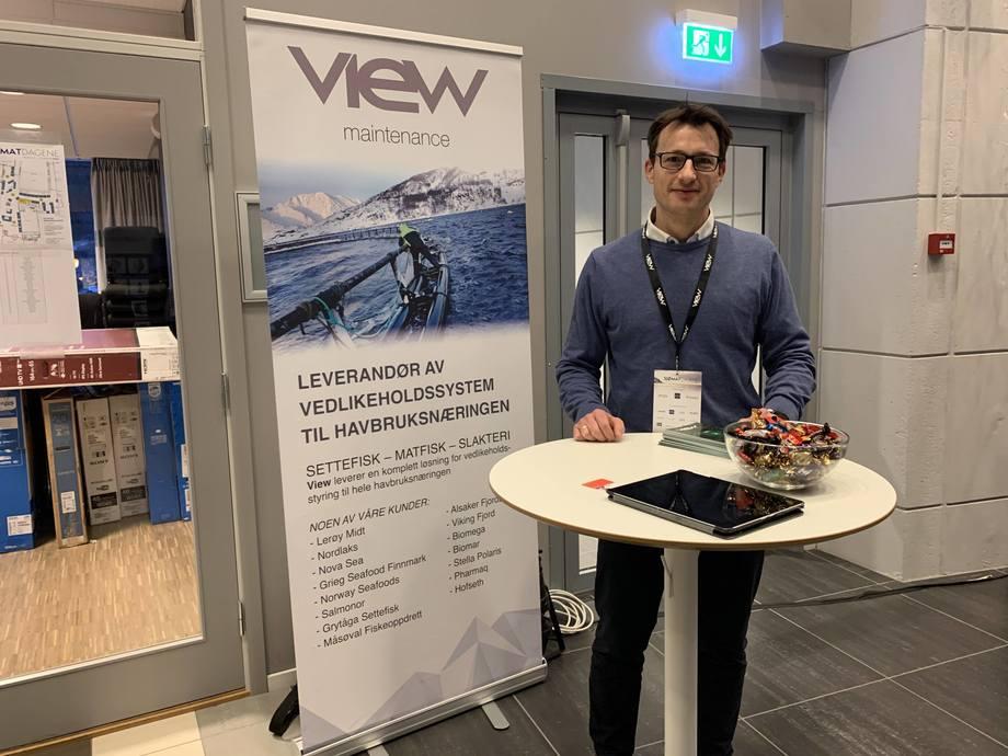 Produktsjef Erik Egeberg i View Software under Sjømatdagene i Trondheim. Foto: Laila Indrebø