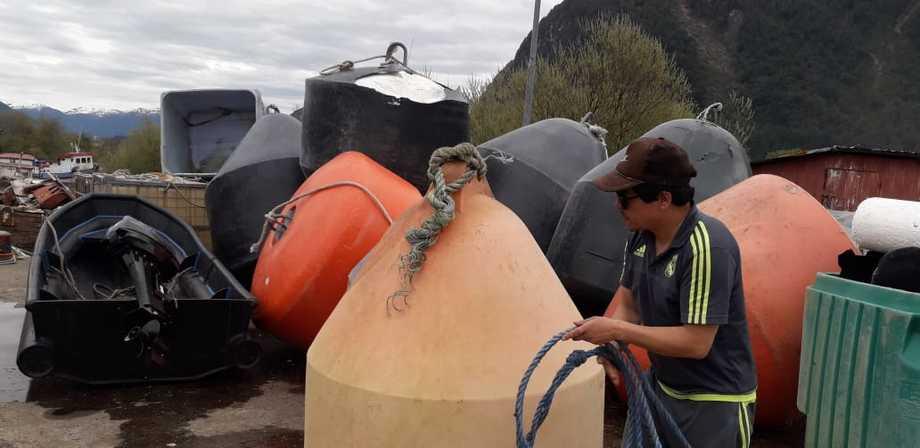 Parte de los residuos inorgánicos retirados de playas por pescadores artesanales de la región de Aysén. Foto: Sociedad Pesquera Canal Darwin.