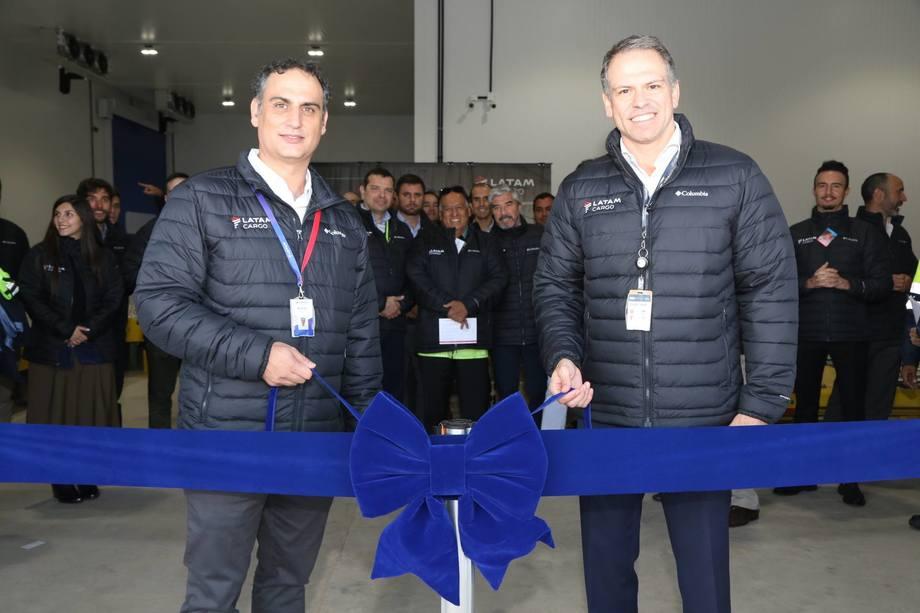 Andrés Bianchi, CEO LATAM Cargo Group y Gustavo Figueiredo, CEO de GRU Airport. Foto: LATAM Cargo.