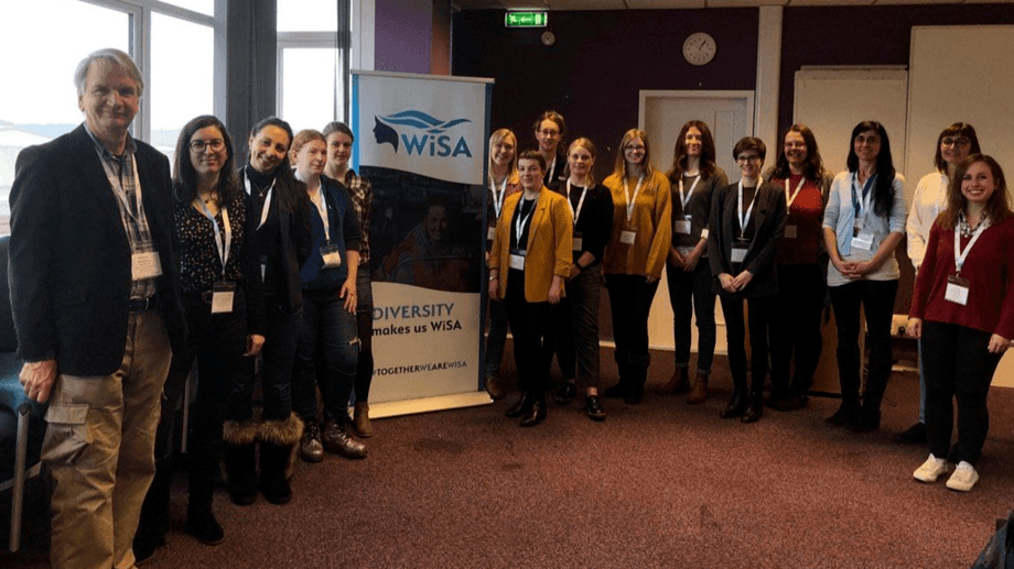 The first meeting of the WiSA mentoring programme was held at SAMS , Oban earlier this month. Photo: WiSA.
