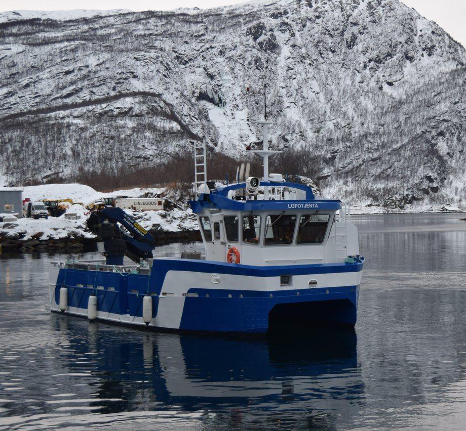 «Lofotjenta» ble overlevert til Lofoten Sjøprodukter mot slutten av 2019. Foto: GMV