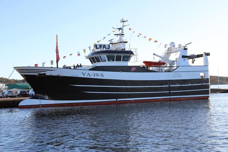 Nybygget «Tenor» er nå levert til Tempofisk i Søgne. Foto: Vesterværftet