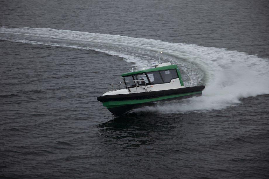 Det 7,95 meter lange og 2,78 meter brede fartøyet oppnådde i overkant av 35 knop under test. Foto: ProZero Norge