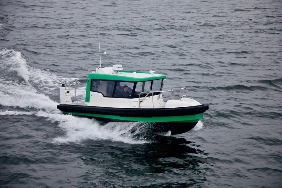 Båten er designet og optimalisert for å fungere som plattform for persontransport, men driften vil også omfatte reparasjon og vedlikehold av utstyr og strukturer, samt andre tjenester i oppdrettsnæringen. Foto: Tuco Marine.