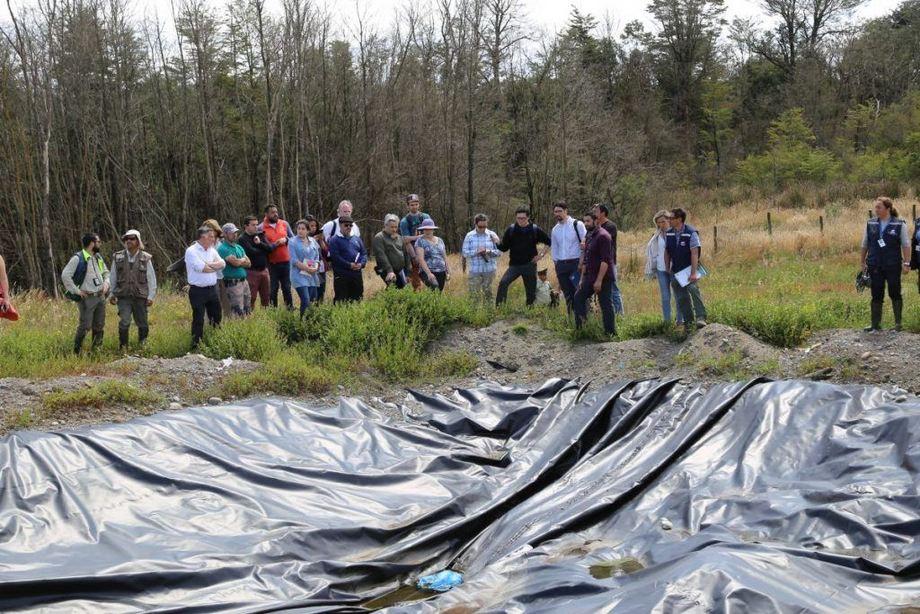 Inspección también contó con profesionales de Conaf, Autoridad Sanitaria y Superintendencia de Medio Ambiente. Foto: Tercer Tribunal Ambiental.