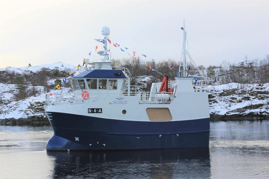 Den nye «Mjåsund» er overtatt av reder Andreas Hanssen som har fått båten hjem til Hansvika. Foto: Viknaslipen