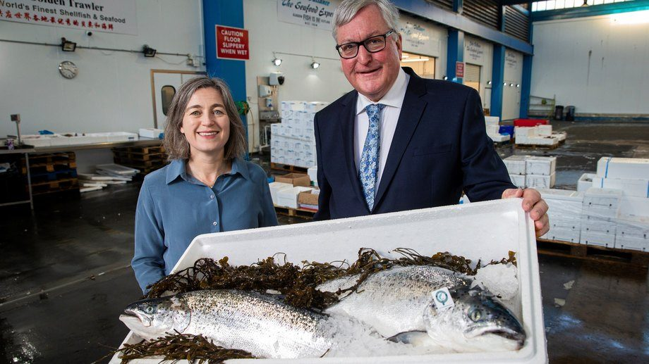 SSPO chief executive Julie Hesketh-Laird and rural economy secretary Fergus Ewing. Photo: SSPO.