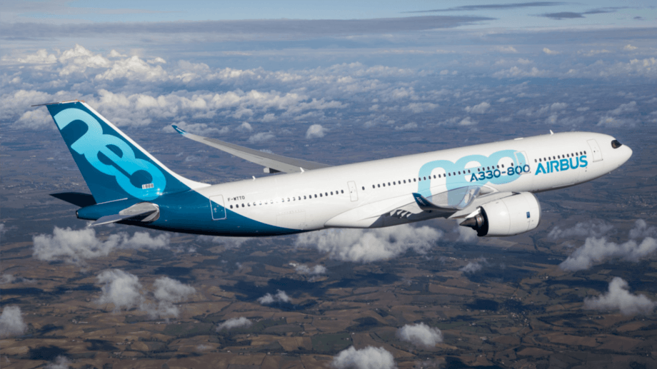 An Airbus A330-800 in flight. The US claims Airbus is being unfairly subsidised in comparison to Seattle plane-maker, Boeing, and has imposed tariffs on other goods in retaliation. Photo: S. Ramadier / Aibus.