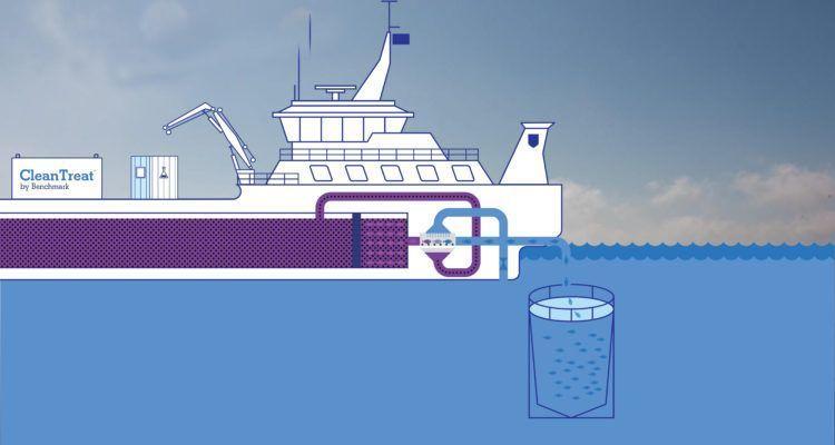BMK08 skal brukes sammen med CleanTreat, som er en metode for å rense behandlingsvannet etter avlusning.  Illustrasjon: Benchmark.