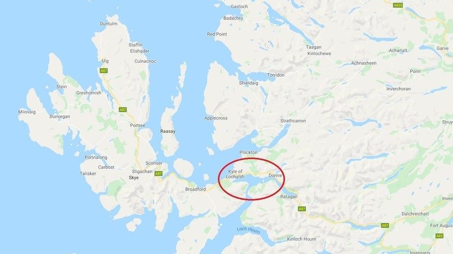 Map: Google.