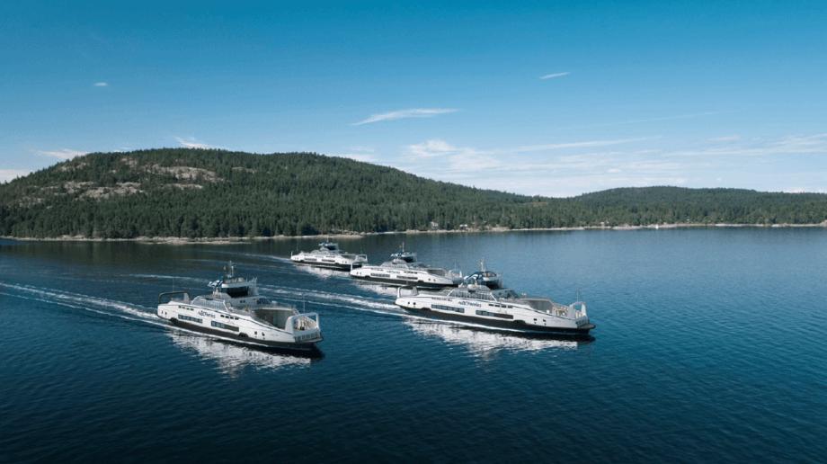 Corvus Energy-batterier vil bli installert på fire av BC Ferries 'nye hybridferger som er under bygging på Damen Shipyards. Foto: Corvus