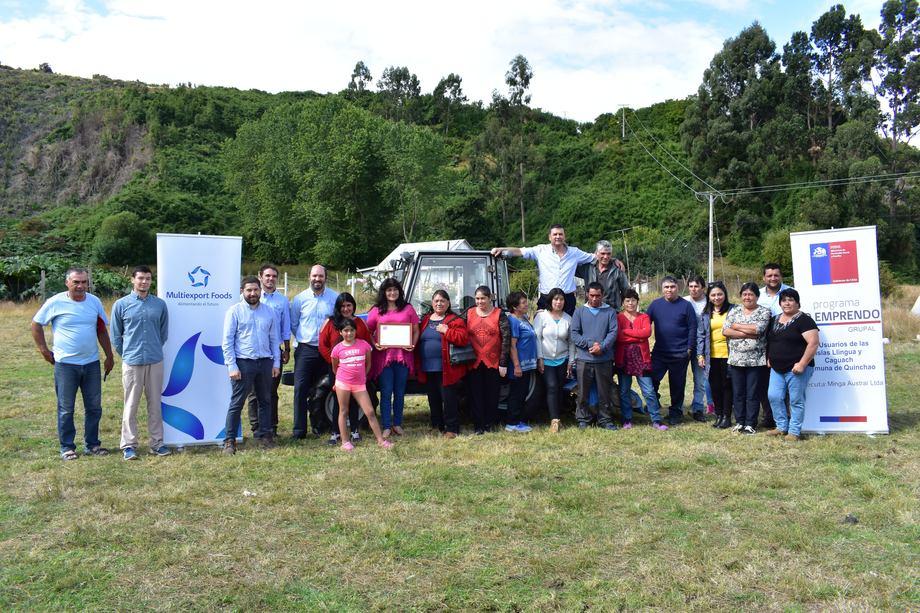 Vecinos de la zona lograron la adjudicación de un Fondo Solidario de Inversión Social. Foto: Multiexport Foods.