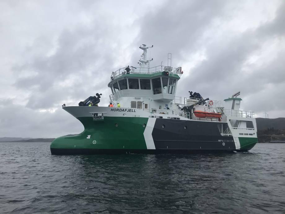 Fitjar Mek. har levert den nye bløggebåten «Hordafjell». Foto: Kari Nøstbakken/FMV