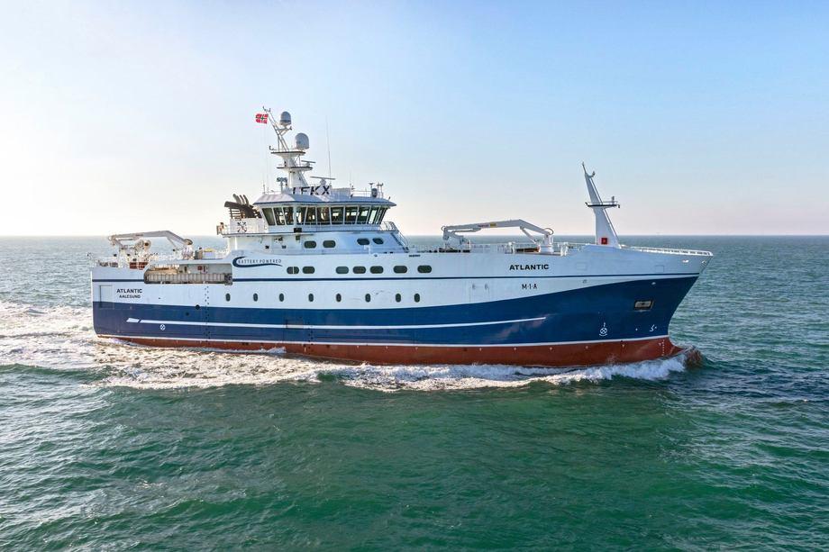 Nyvinningen «Atlantic» levert er levert fra Tersan til Atlantic Longline. Foto: Tersan Shipyard