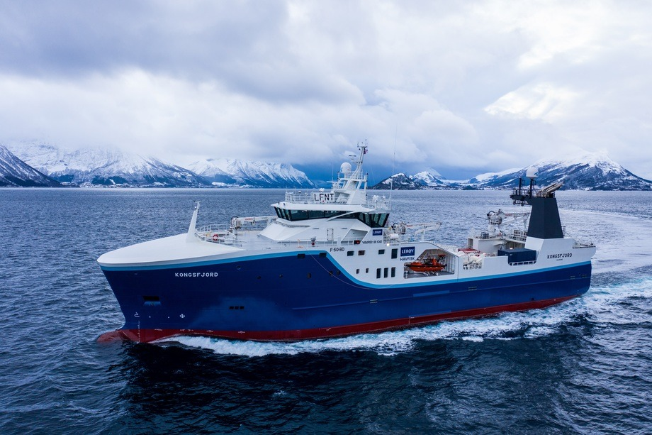 Den nye tråleren «Kongsfjord» er klar for jobb for Lerøy Havfiske. Foto: Vard