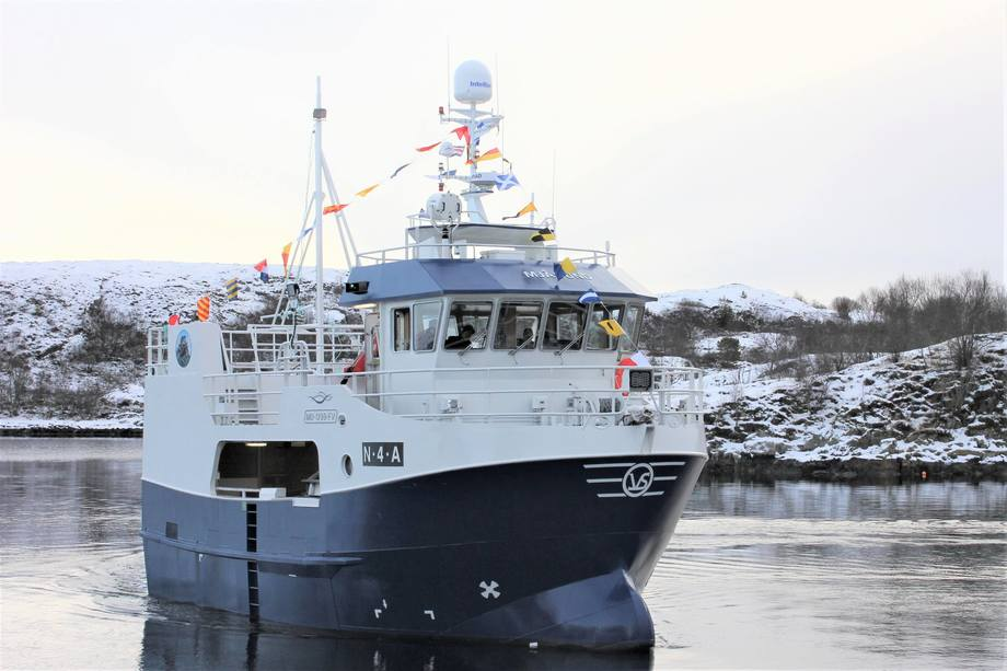 Den knapt 13 meter lange «Mjåsund» er overlevert fra Viknaslipen til reder Andreas Hanssen. Foto: Snippen Media