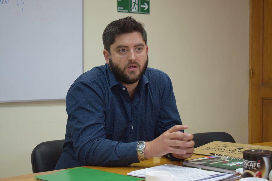 """Ismael Infante, el nuevo gestor del PTI """"Desarrollo Competitivo de los Fiordos y Canales de Aysén"""". Foto: Corfo Aysén."""
