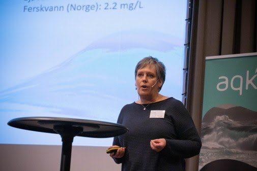 Åse Åtland under Aqkva 2020-konferansen i januar. Foto: Aqkva