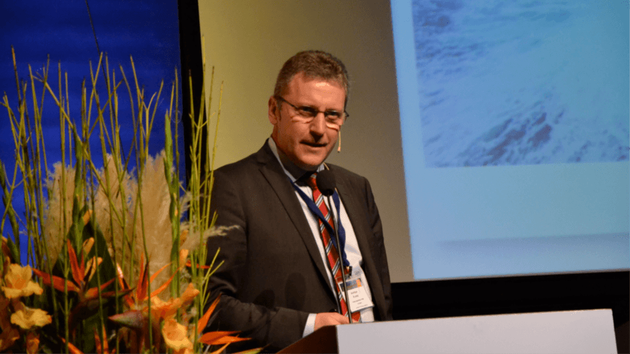 Andreas Kvarme, chief executive of Grieg Seafood, which is maintaining its harvest guidance of 100,000 gwt for 2020 despite the difficulties caused by coronavirus.