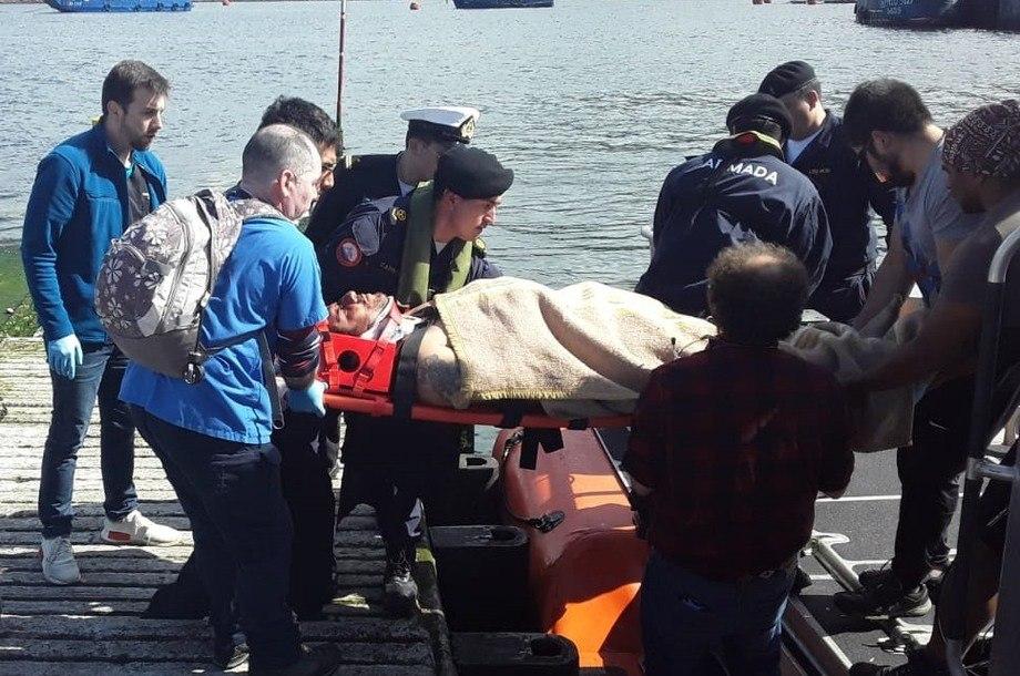 El accidente ocurrió en un centro de cultivo de salmón de AquaChile. Foto: Directemar.