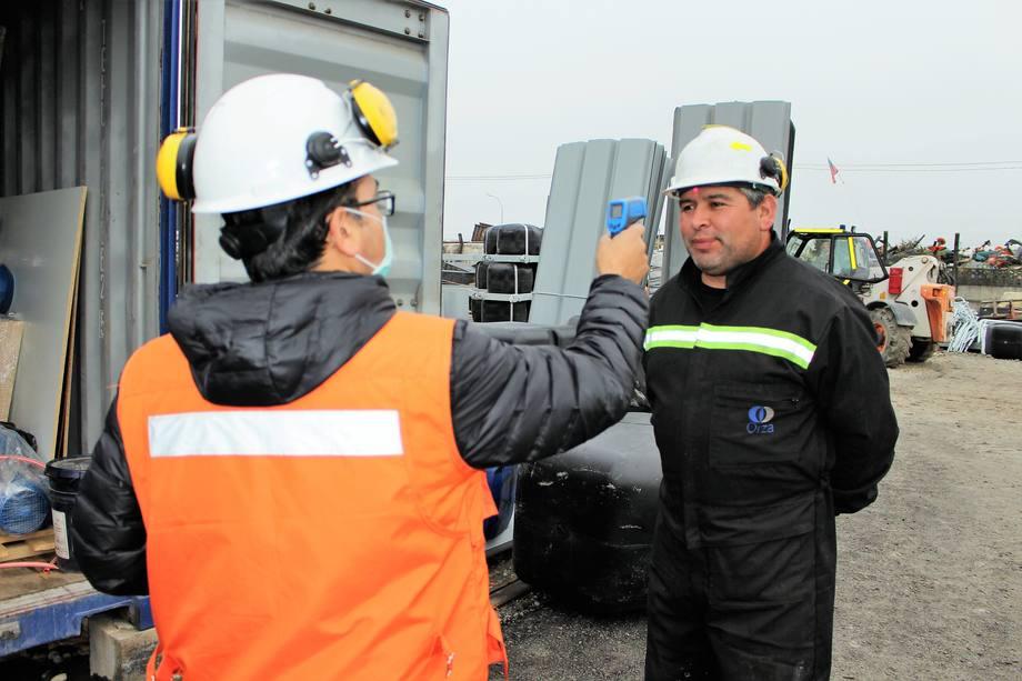 Orza se encuentra implementando medidas sanitarias para sus trabajadores. Foto: Orza.