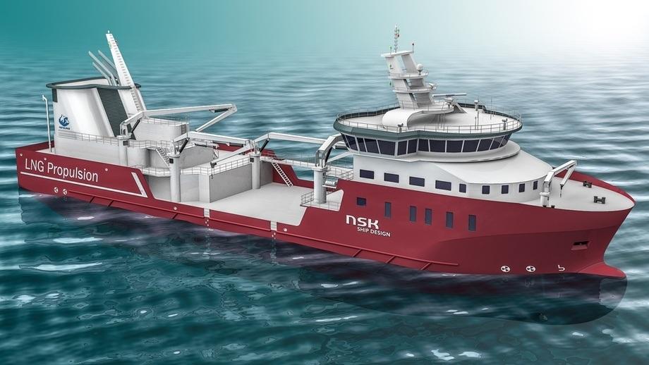 Fartøyet er designet av NSK Ship Design i Harstad og skal leveres fra Tersan Shipyard i 2021. Foto: NSK Ship Design