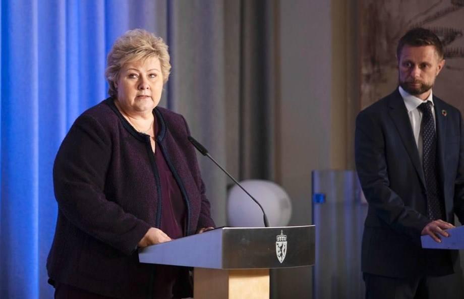 Pressekonferanse om videre tiltak i håndteringen av korona-pandemien. Foto: Jan Richard Kjelstrup, ASD