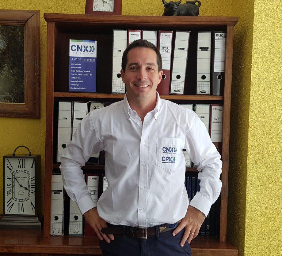 Cristián Hozven, socio y gerente Comercial de CNX CPX Group y presidente de la Asociación Logística de Chile. Foto: Cedida.