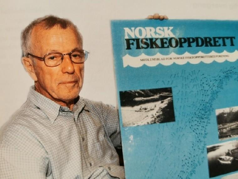 Denne mannen har en vesentlig del av æren for det norske oppdrettseventyret. Olav Hanssen fotografert i forbindelse med 30 års jubileet i Norsk Fiskeoppdrett i 2006. (NF nr 8/2006). Foto: Gustav Erik Blaalid