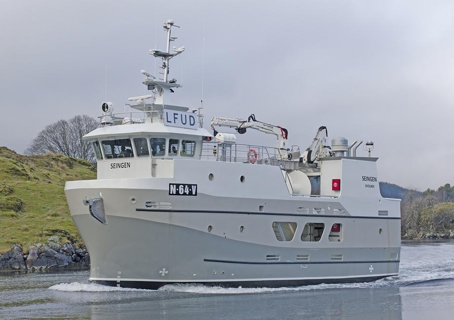 MS «Seingen» er overlevert fra Mundal Båt til Fjordbakk. Foto: Mundal Båt
