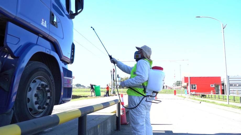 La compañía se encuentra operando con estrictos protocolos de bioseguridad desde el comienzo de la emergencia sanitaria. Foto: Vitapro Chile.